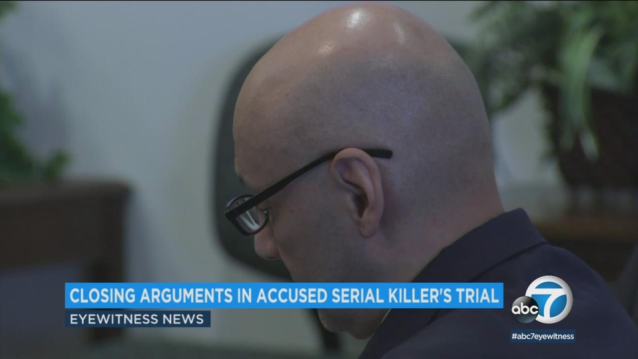 Closing arguments began in the trial of Andrew Urdiales, accused of being a serial killer who murdered five women in Southern California.