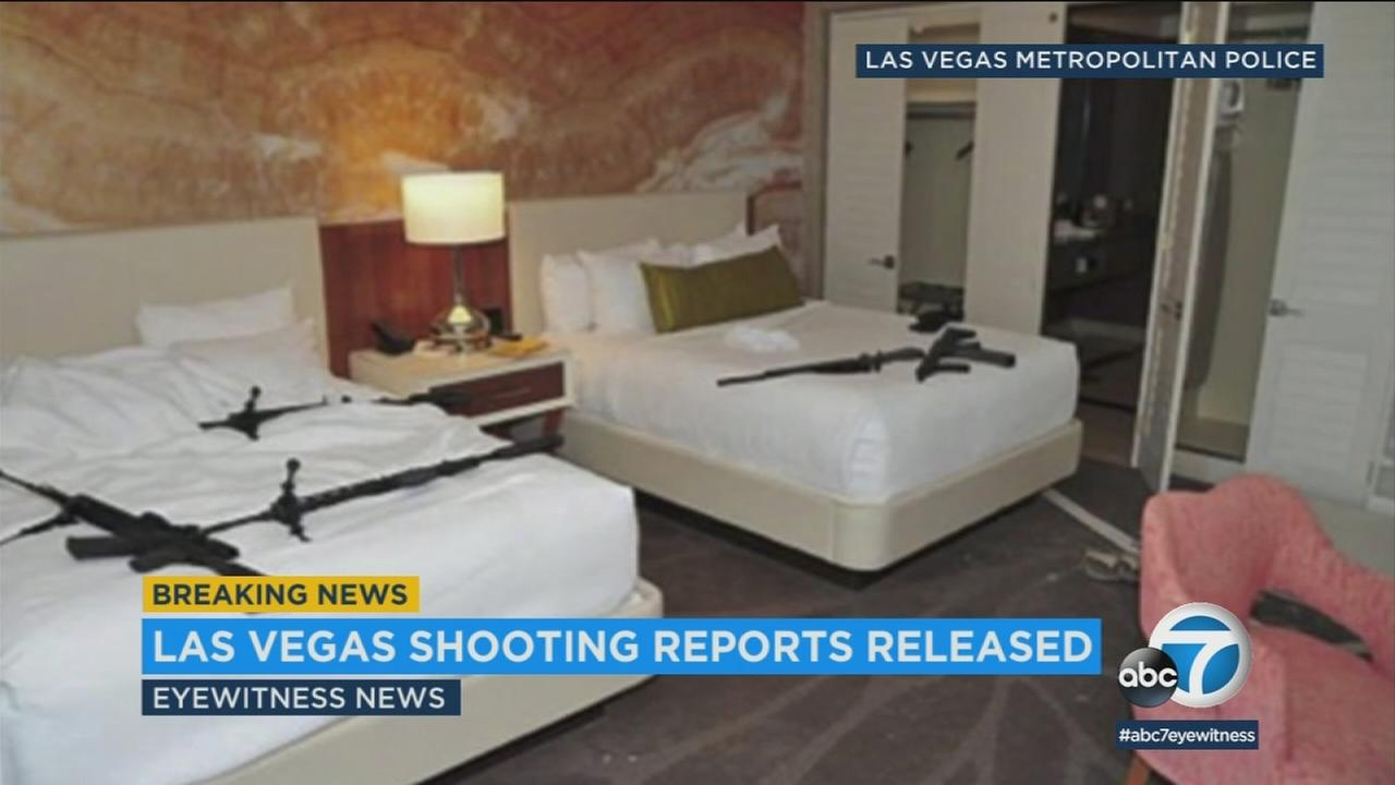 New photos and video have been released on the investigation into the October mass shooting in Las Vegas.