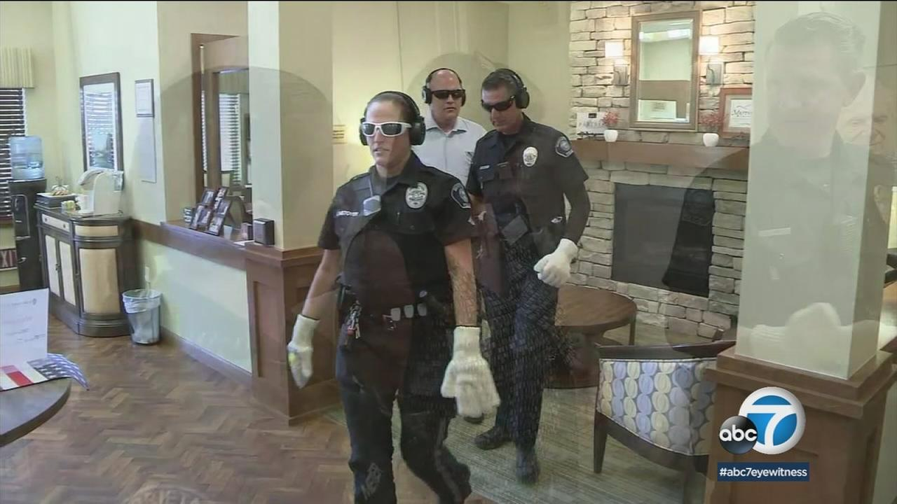 Officers wear special gear that shows them what its like to have dementia or other memory-loss diseases.