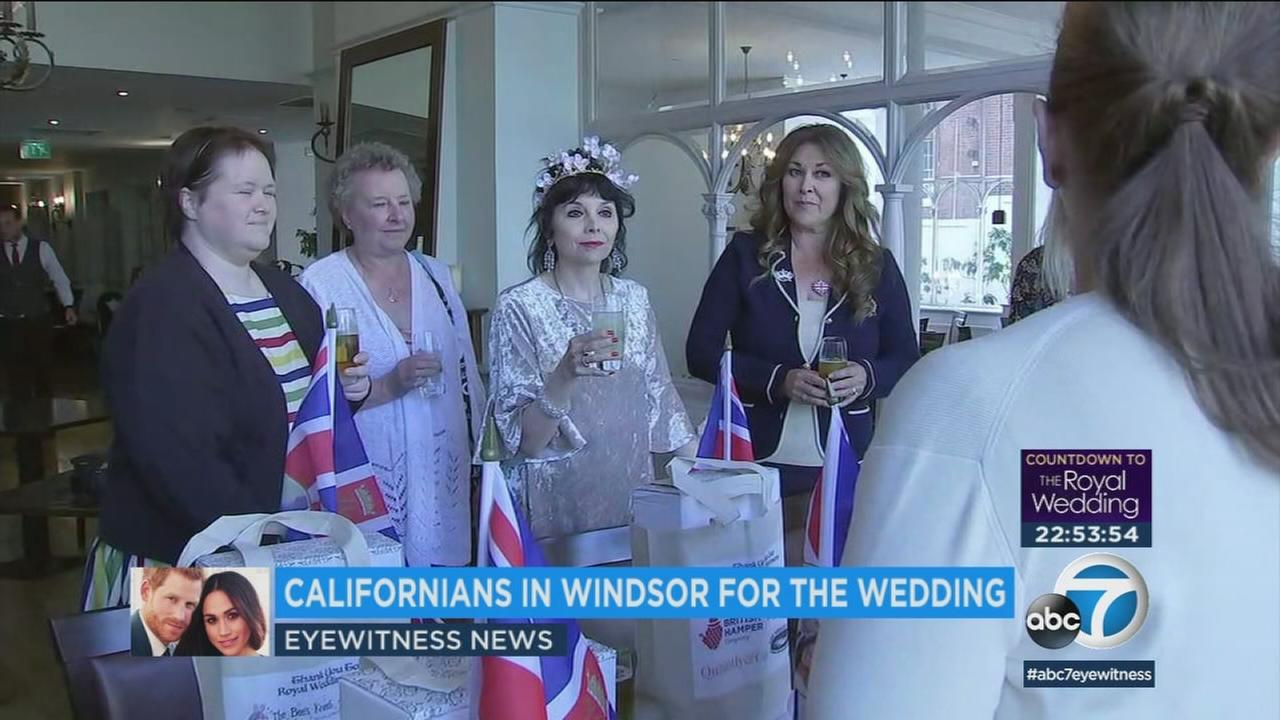One LA woman will have a birds-eye view for the royal wedding from her balcony hotel room next to Windsor Castle.