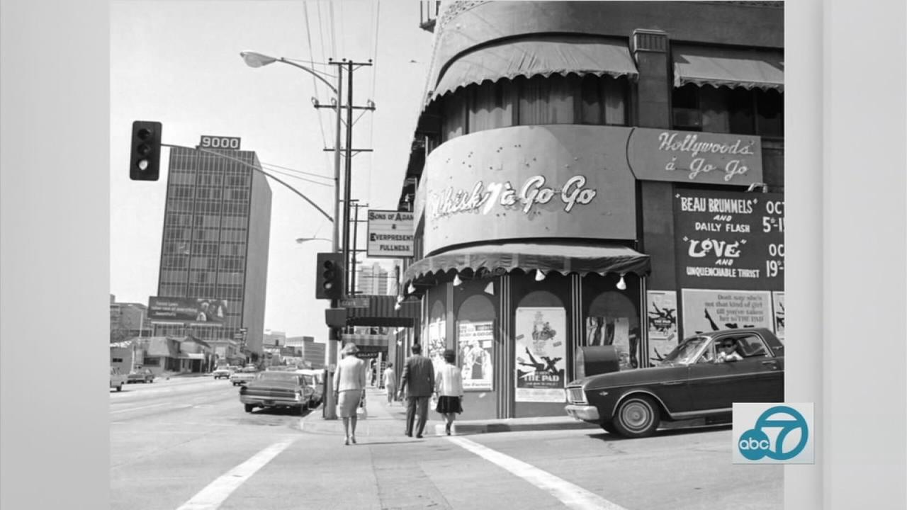 An old photo of the Sunset Marquis is shown.