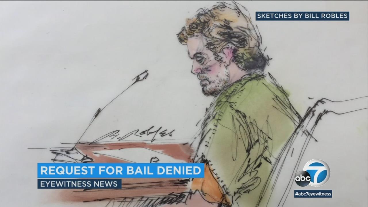 A sketch showing Stephen Beal in court is shown.