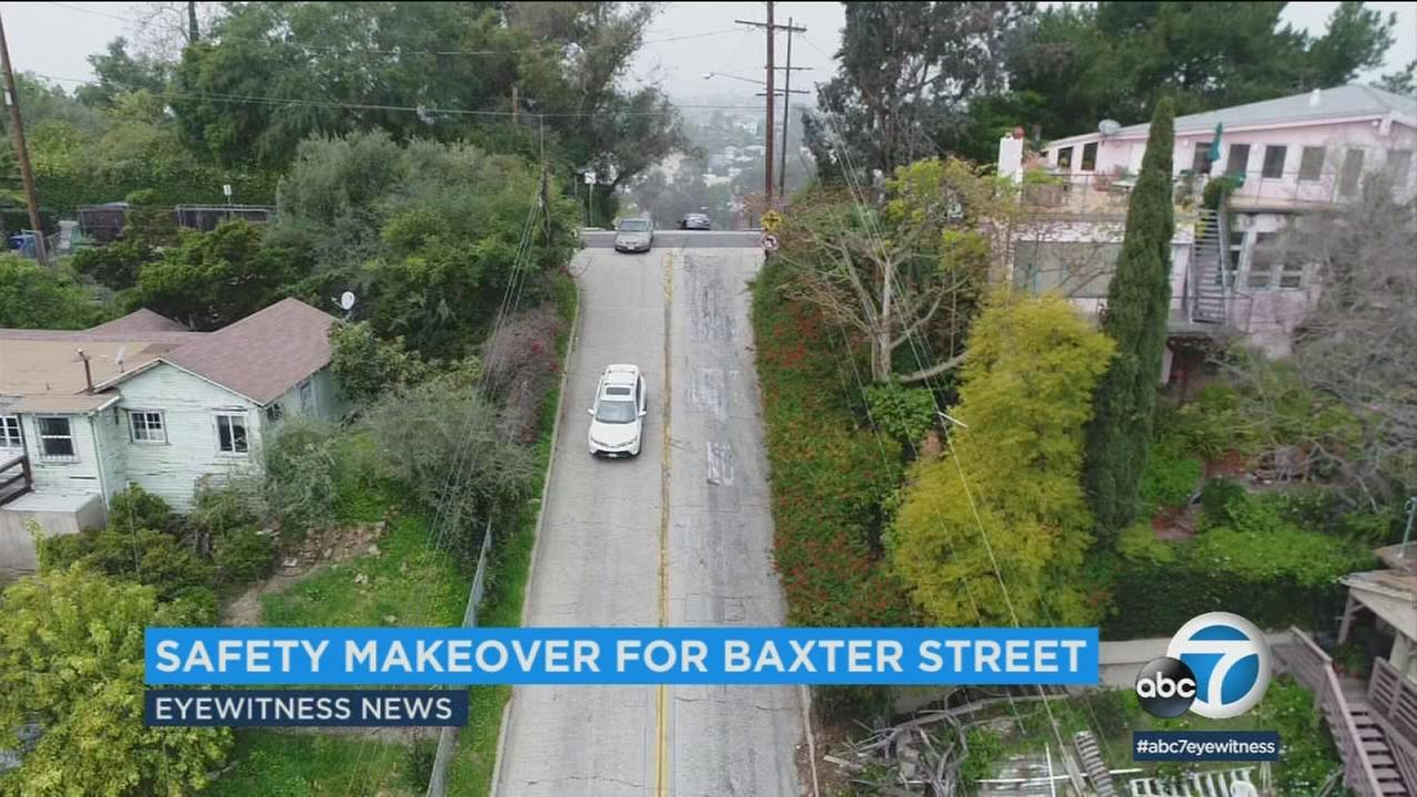 Aerial view of Baxter Street.