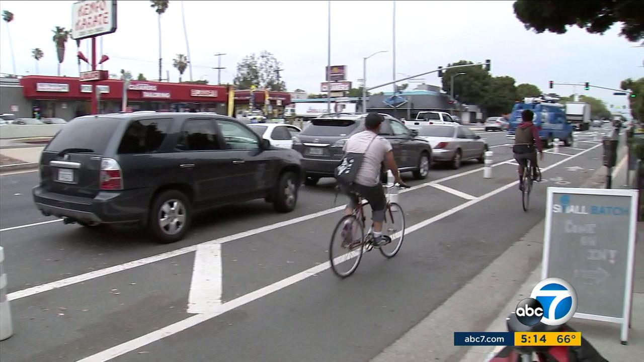 On the one-year anniversary of the so-called road diet in Mar Vista, some people say the change is killing their business, while others love it.