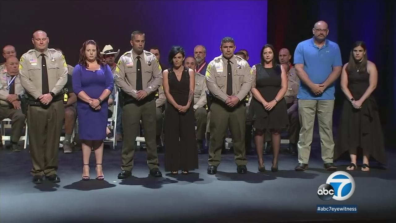 The San Bernardino County Sheriffs Department honored several law enforcement officers on Wednesday by presenting them with the Sheriffs Medal of Valor.