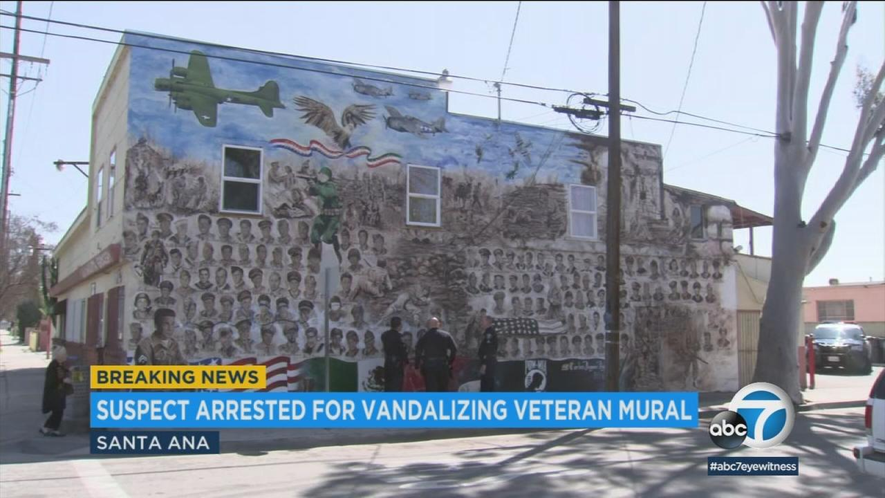 The Heroes Among Us mural in Santa Ana is shown in an older photo.