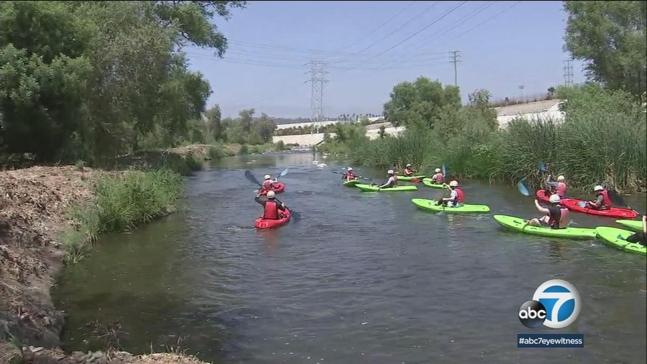 Angelenos can now kayak, fish and bird watch along parts of the LA River until September.