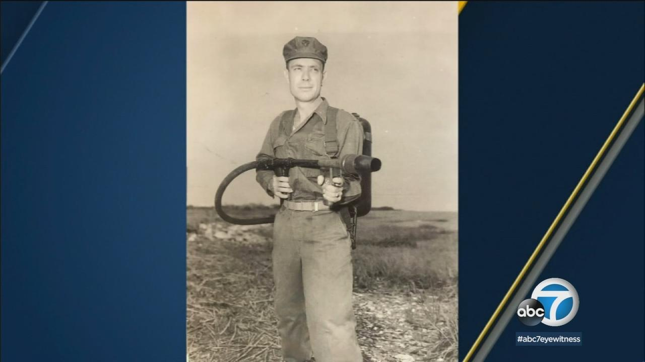 During the Battle of Iwo Jima, Hershel Woody Williams carried a 70-pound flamethrower into battle and was awarded the Medal of Honor for his bravery.
