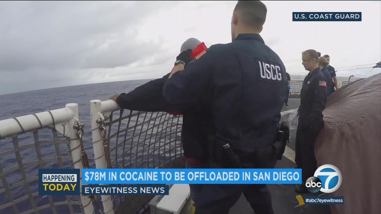 The U.S. Coast Guard seized the drugs from smugglers off the coast of Central America earlier this month.