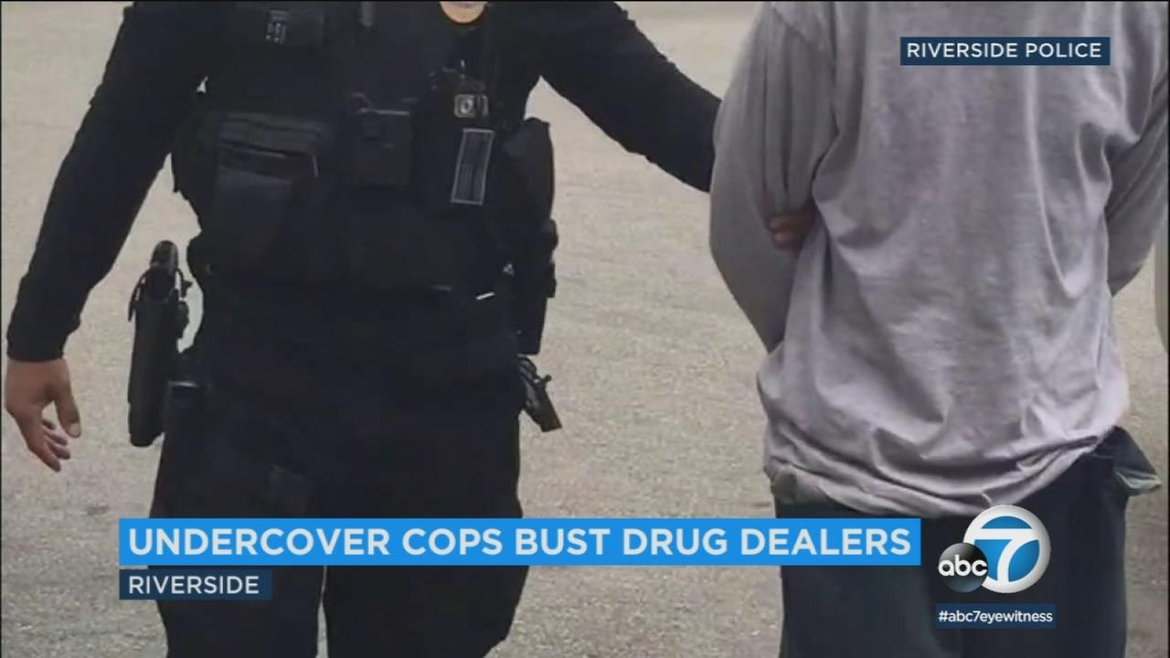 Police arrested 23 people in an operation designed to crack down on illegal drug sales in downtown Riverside.