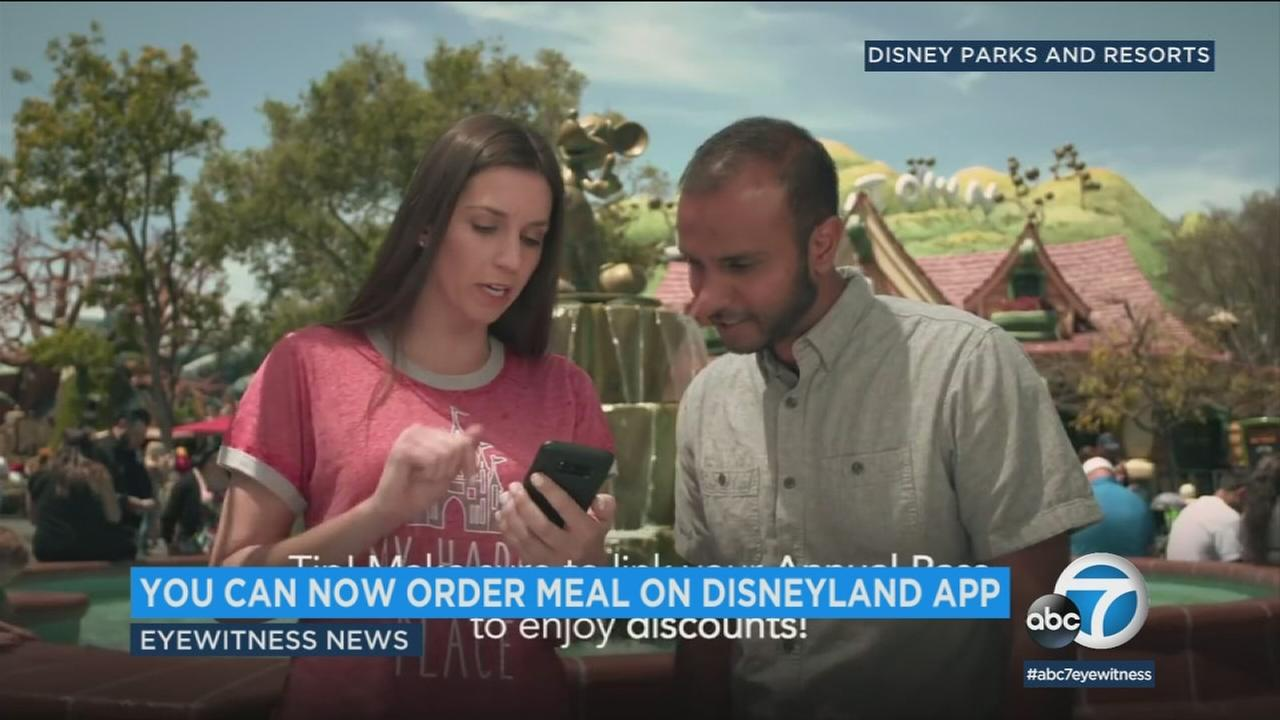Disneyland patrons can now order their meals for pickup through the theme parks mobile app.