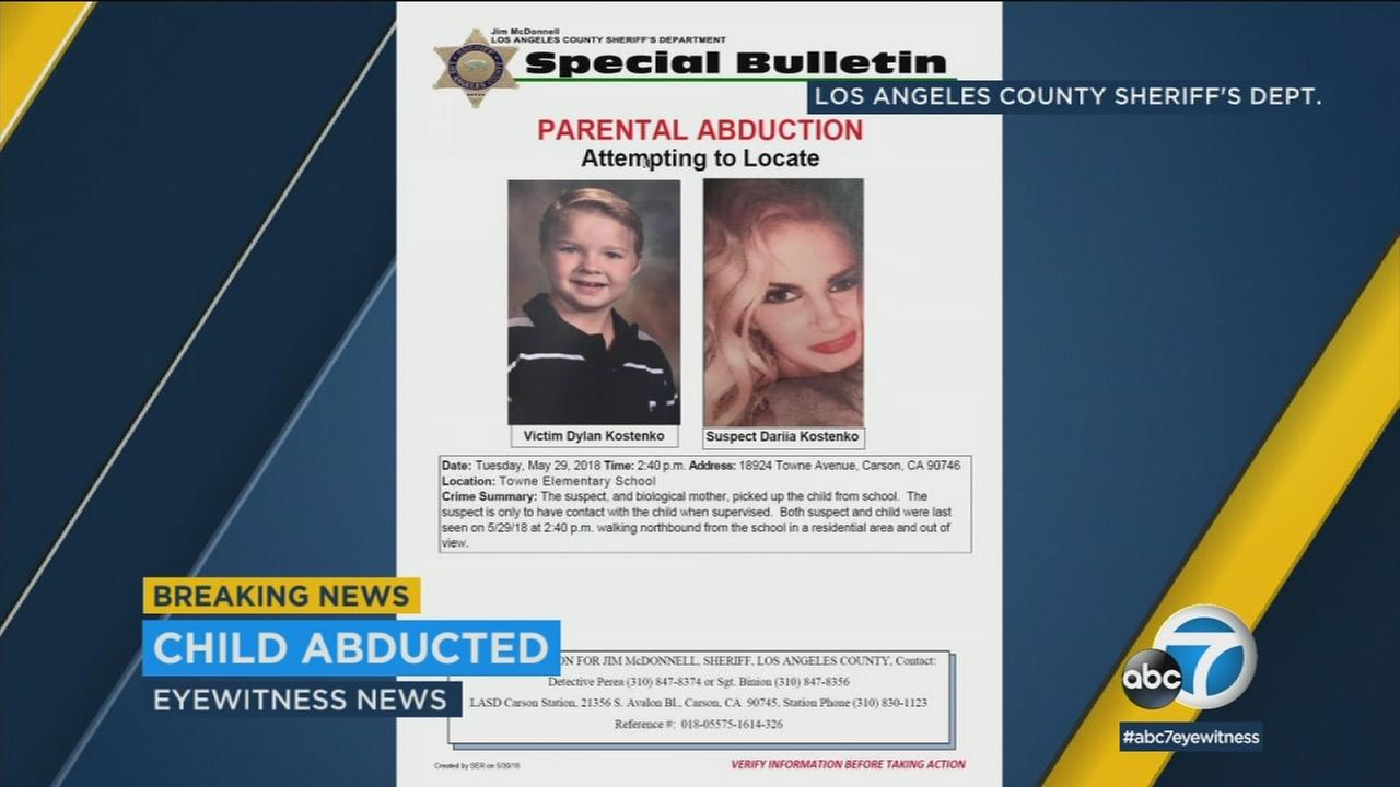 The Los Angeles County Sheriffs Department is searching for a foster child, believed to have been taken by his biological mother.