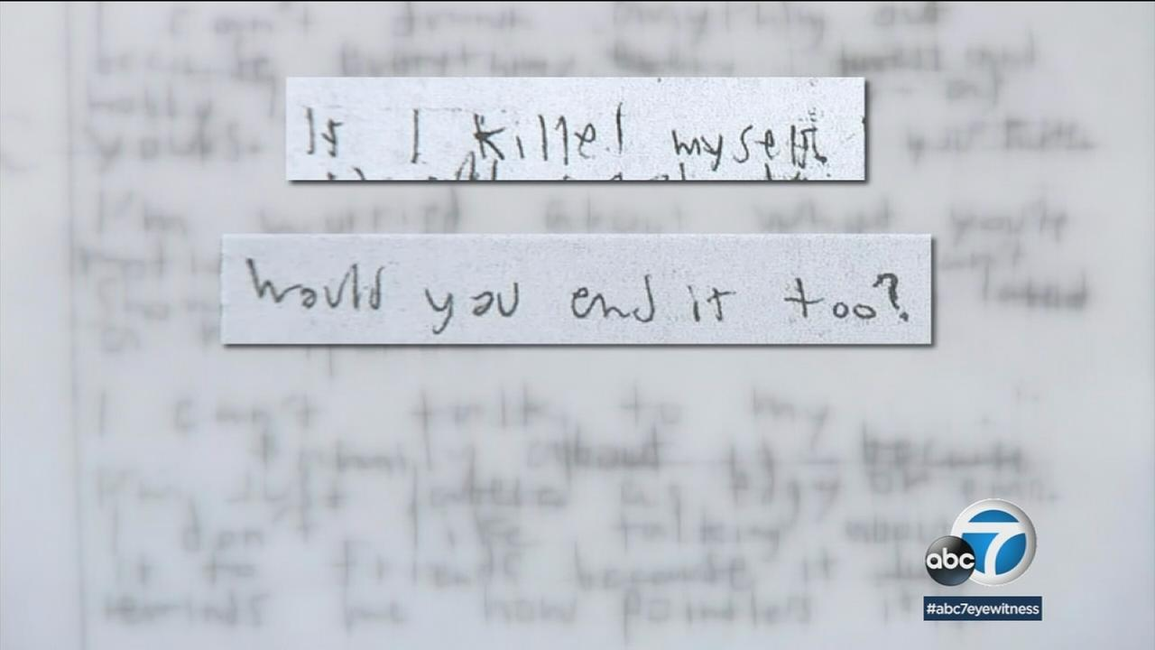 A letter allegedly written by a Norco High School boy to another student.