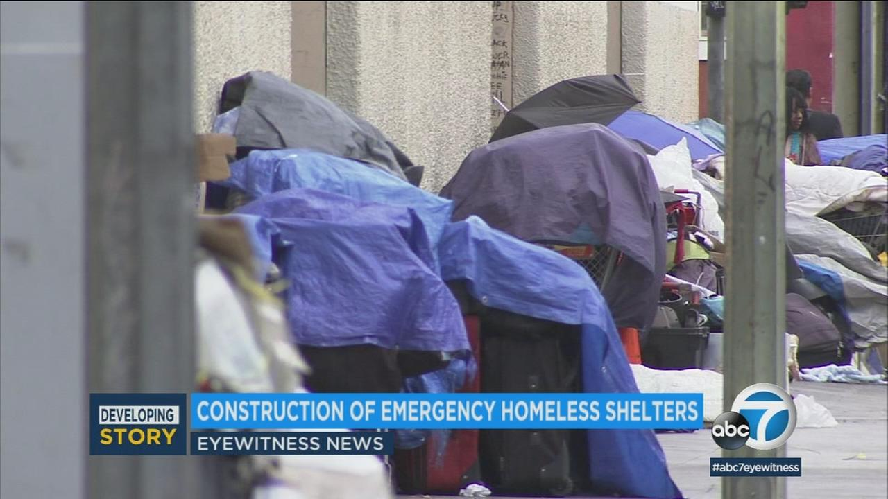 L.A. Mayor Eric Garcetti signed a directive aimed at streamlining the process for standing up temporary homeless shelters throughout the city.
