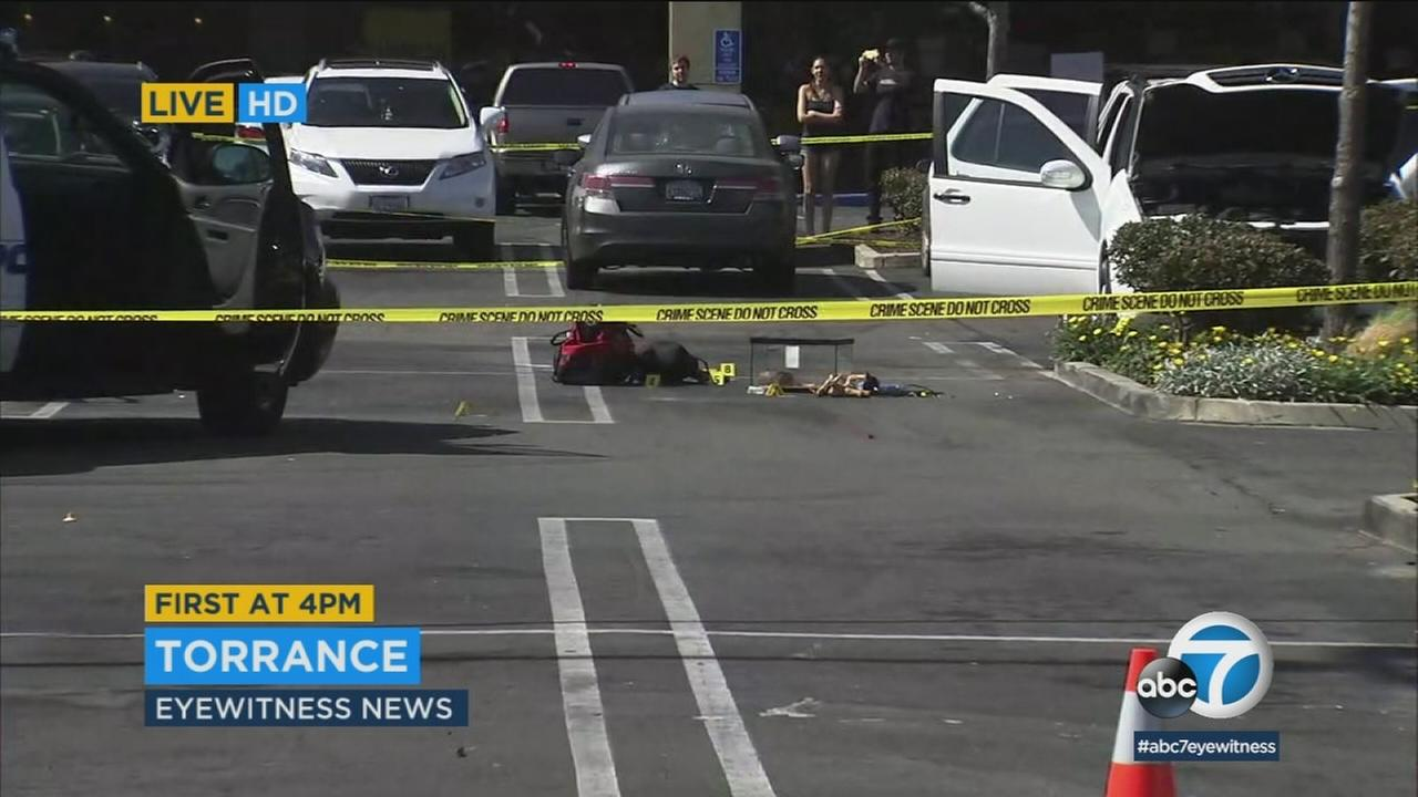 Torrance police shot and killed a man they said was brandishing a knife near a Planet Fitness gym on Hawthorne Boulevard Friday.