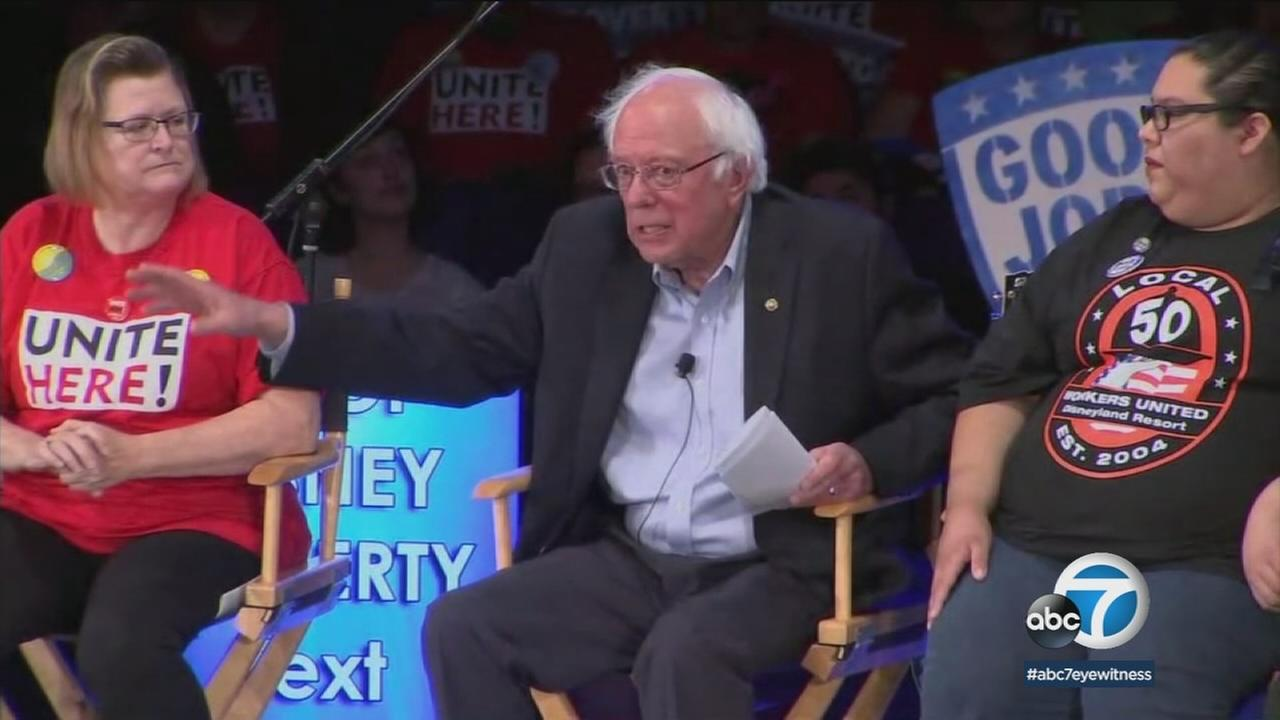 Bernie Sanders drew big crowds as he crisscrossed Southern California and called for fair wages and justice reform on Saturday, June 2, 2018.