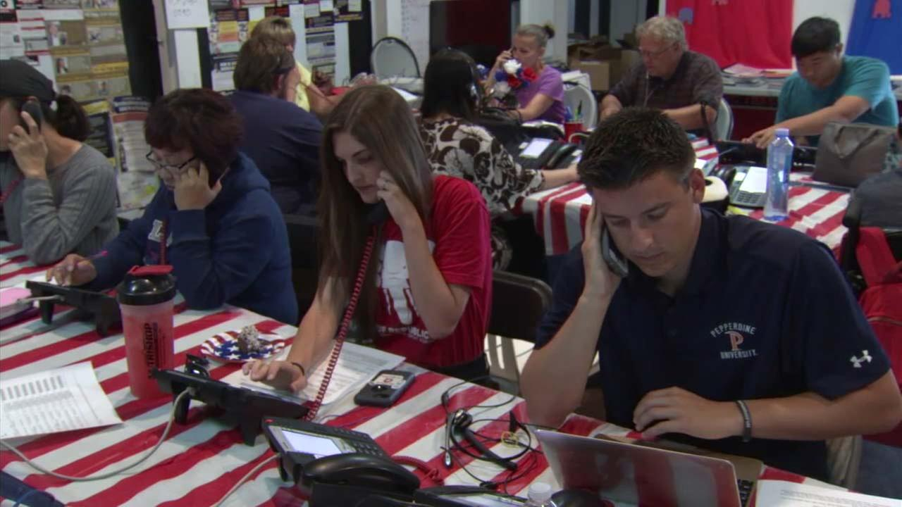 Volunteers work the phones heading into Election Day.