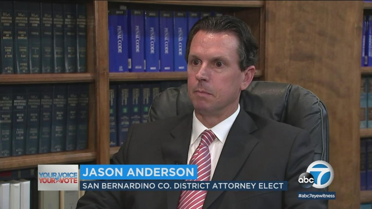 Defense attorney Jason Anderson upended incumbent Mike Ramos by garnering nearly 53 percent of the vote.
