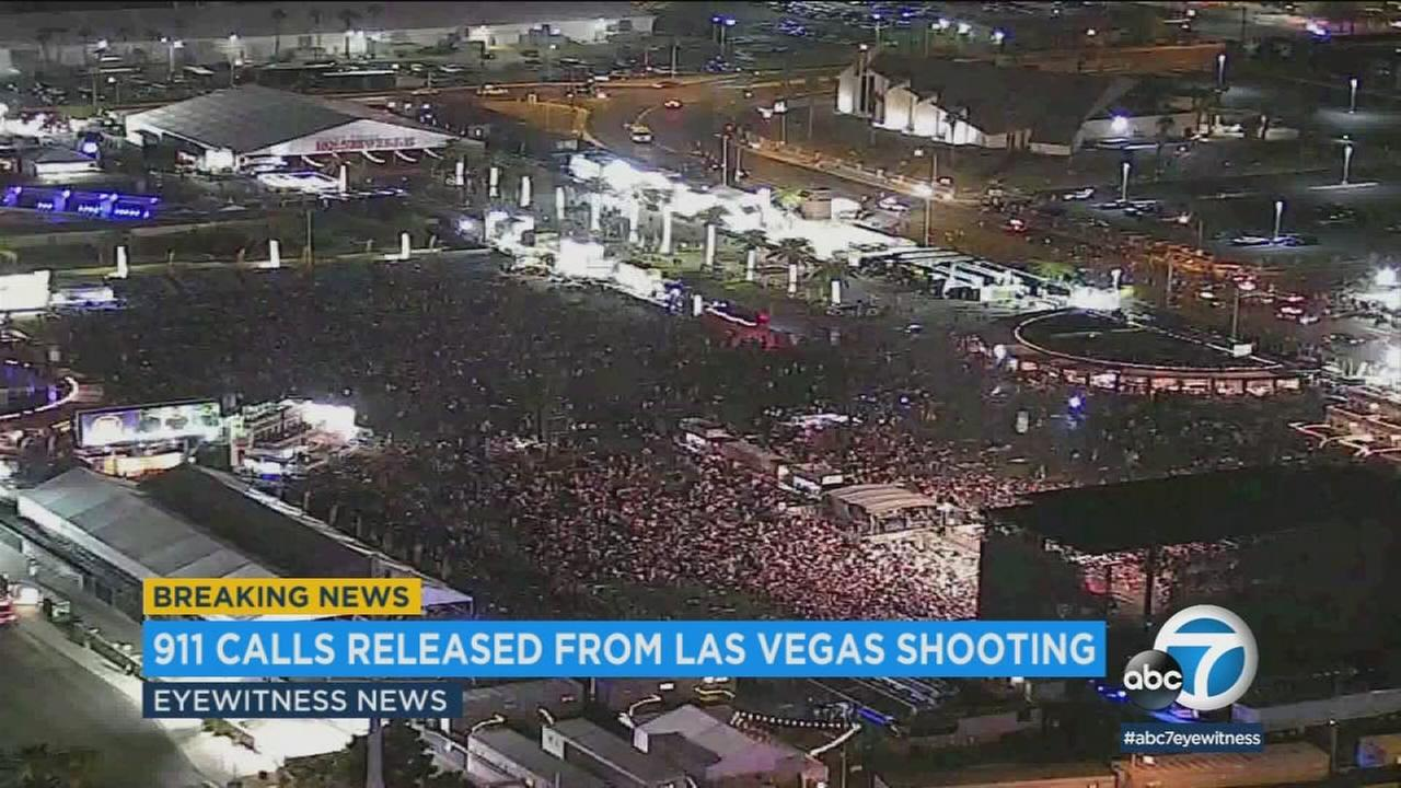 Hundreds of 911 calls released by Las Vegas police from the Oct. 1 mass shooting show the efforts that helpless concert-goers took to hide.