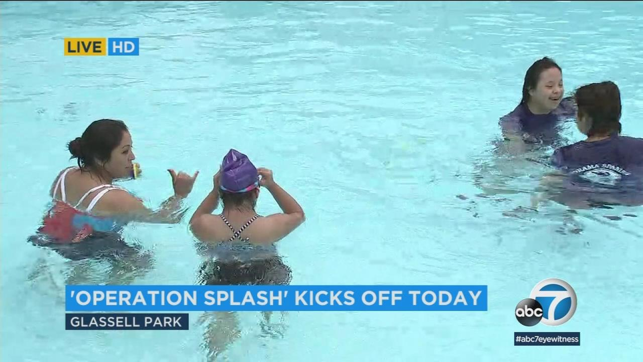 Operation Splash, a program that promotes water safety and encourages exercise, is offering free swim lessons across Southern California.