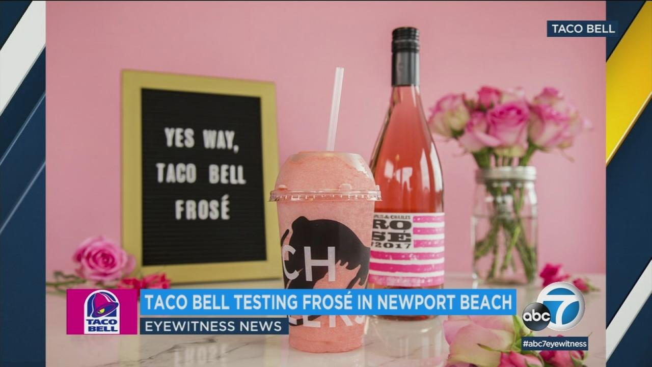 SoCal residents can try out Taco Bells new Berry Frose Twisted Freeze at a Newport Beach location.