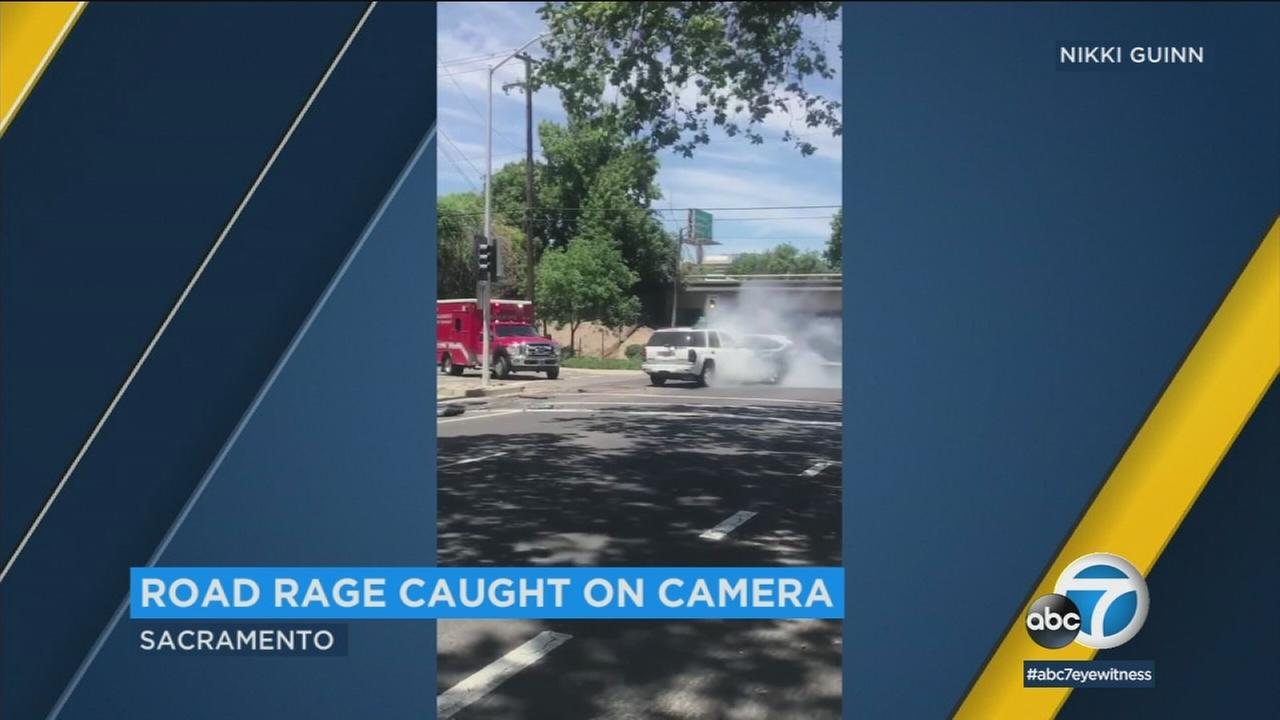 A man is in jail after a disturbing road rage incident that was captured on video in Northern California.