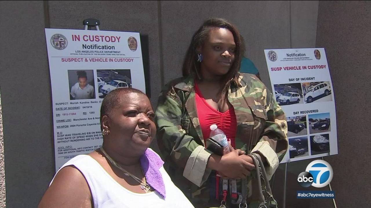 The mother and girlfriend of Fredrick Frasier Jr. talk about the arrest of a suspect in his hit-and-run death.
