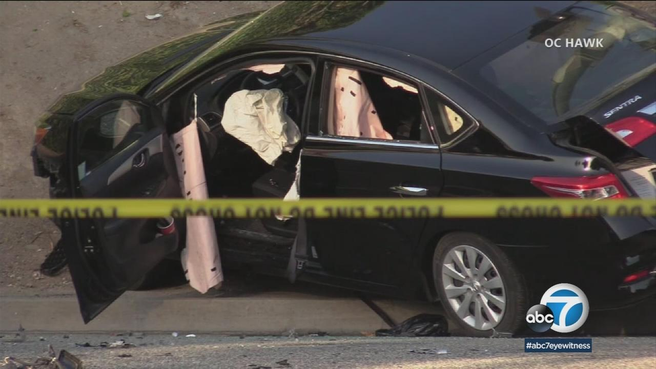 A hit-and-run suspect is in custody following a fatal traffic collision that killed two men in Riverside early Saturday morning.