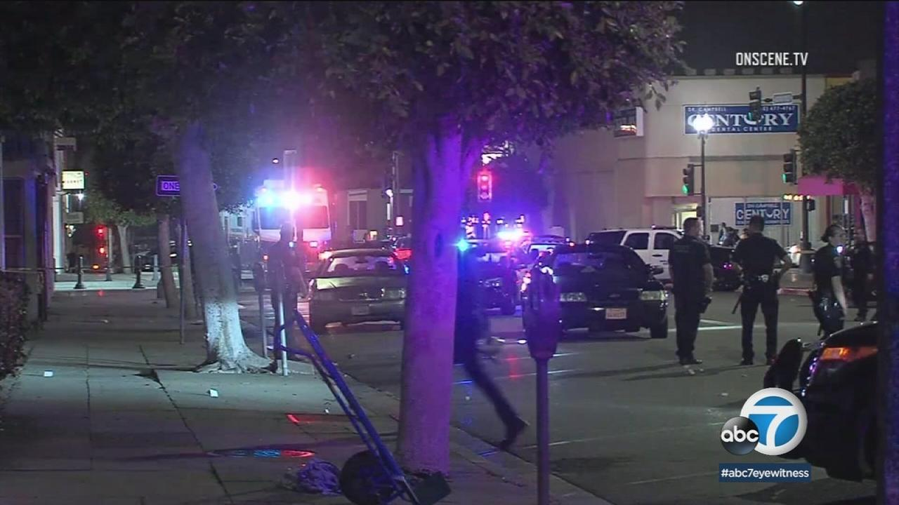 A man was killed and a woman injured during a shooting in Inglewood Friday night.