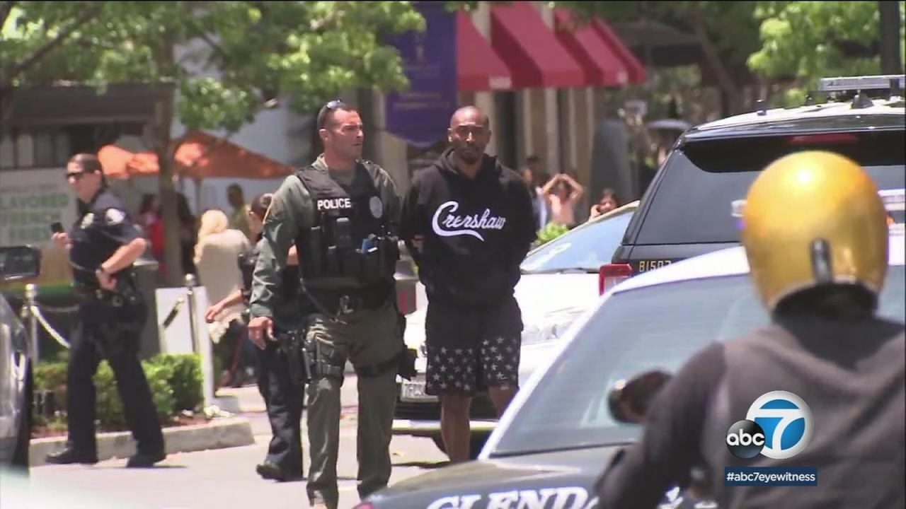 An actor taken into custody while shopping at a mall in Glendale is claiming racial profiling for being detained for several hours.