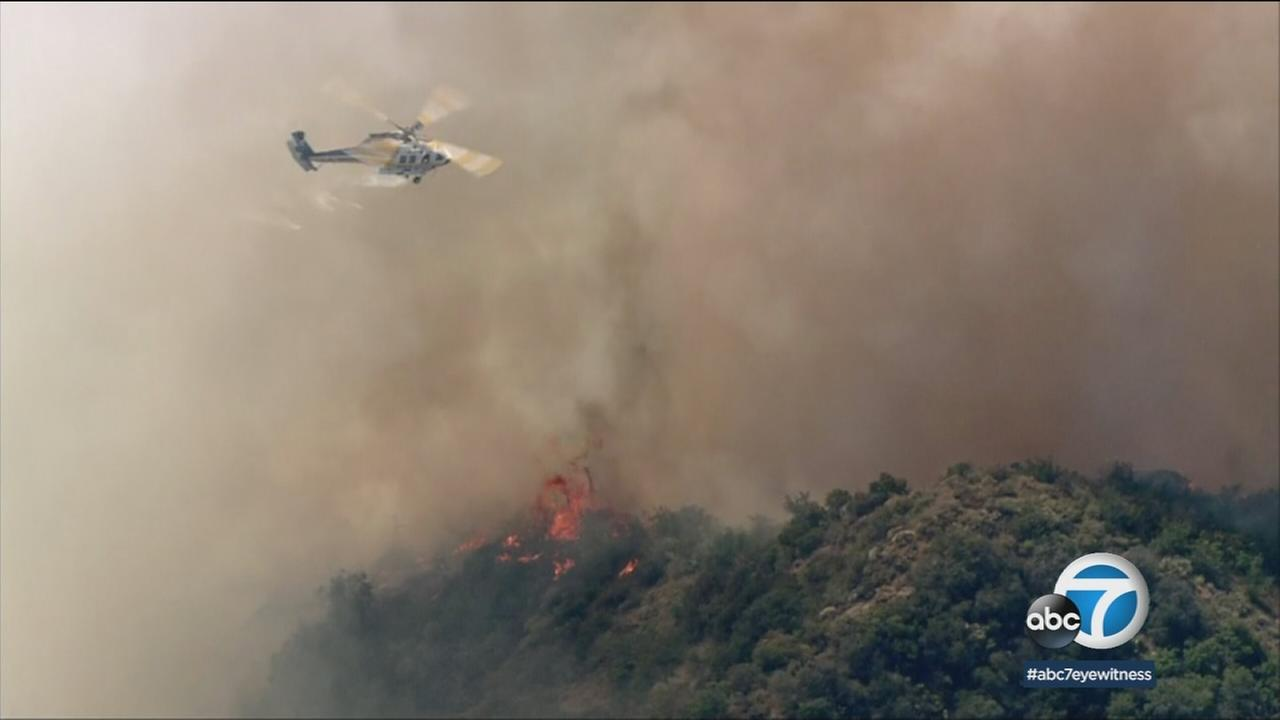 The wildfire that threatened homes in Benedict Canyon is now 60 percent contained thanks to an aggressive response from four firefighting agencies.