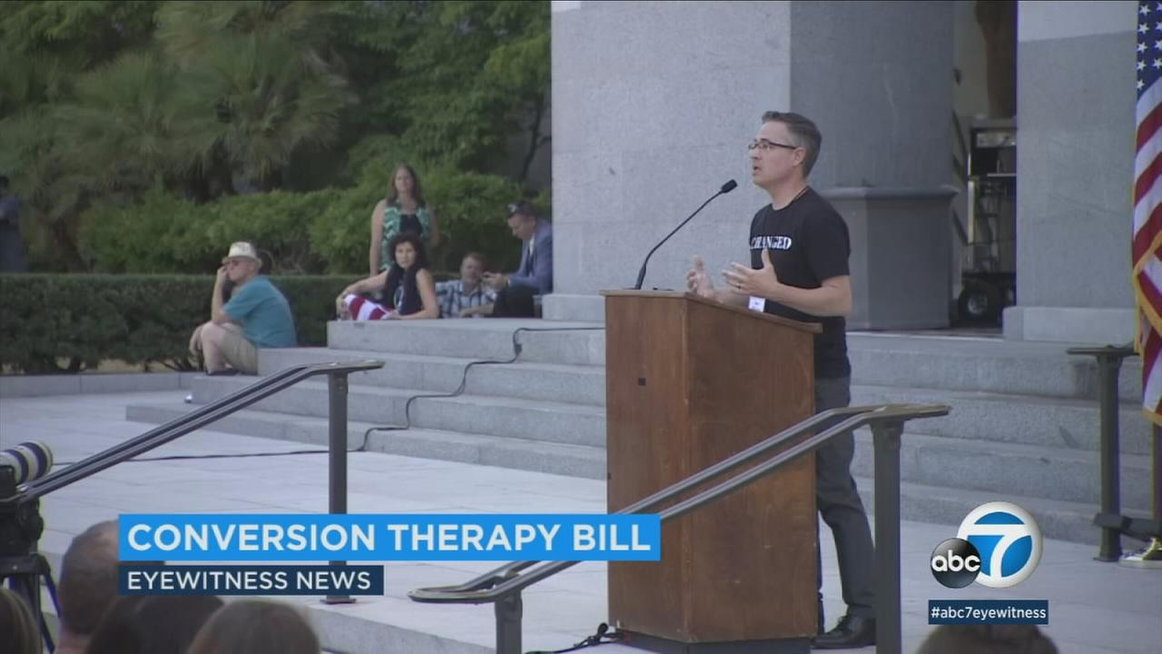 A bill to declare gay conversion therapy a fraudulent business practice is picking up steam in the California Senate.