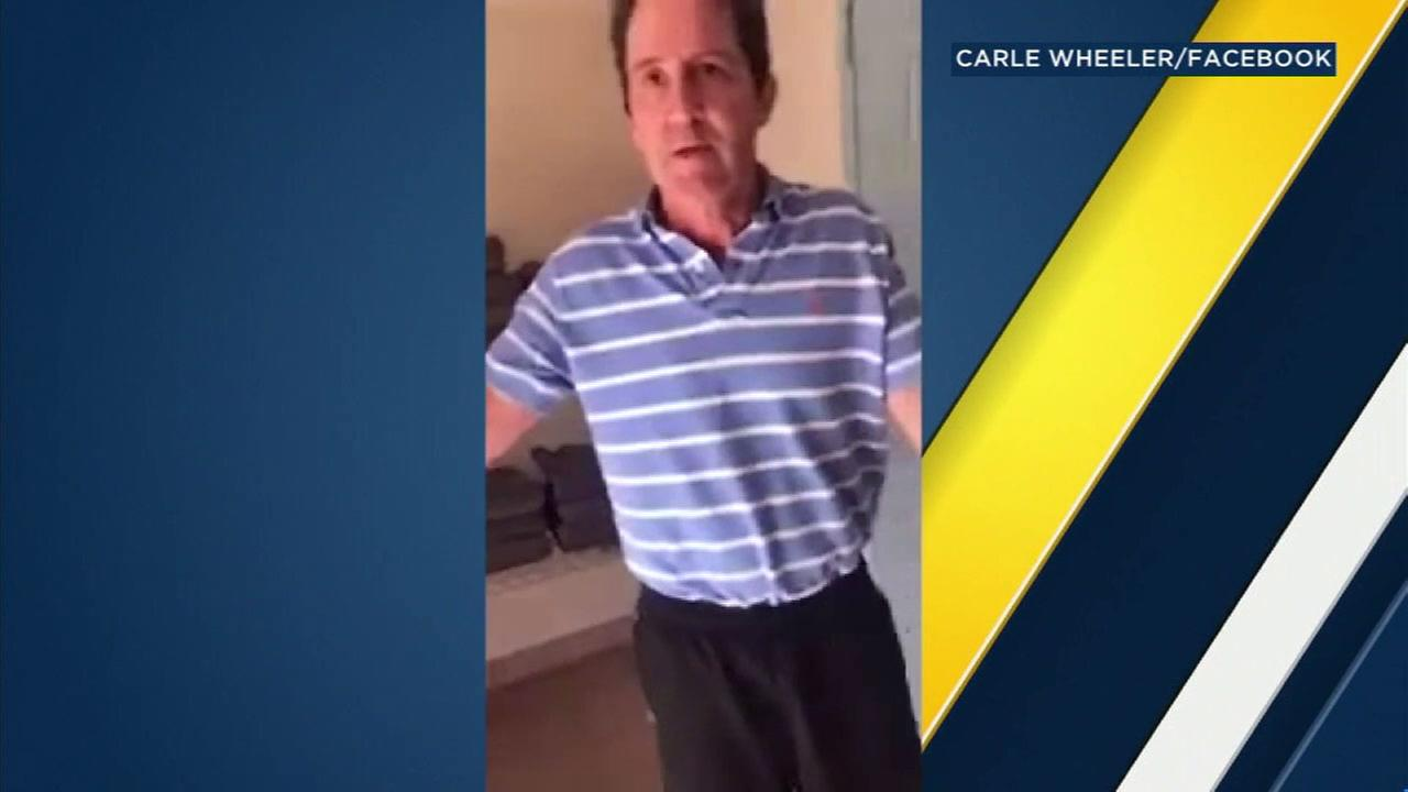 A man who asked a black mother and daughter if theyd showered before going into the Pasadena Westin hotel pool is shown in a video the mother shot.