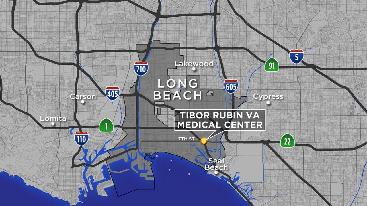This map shows the location of the Tibor Rubin VA Medical Center in Long Beach.