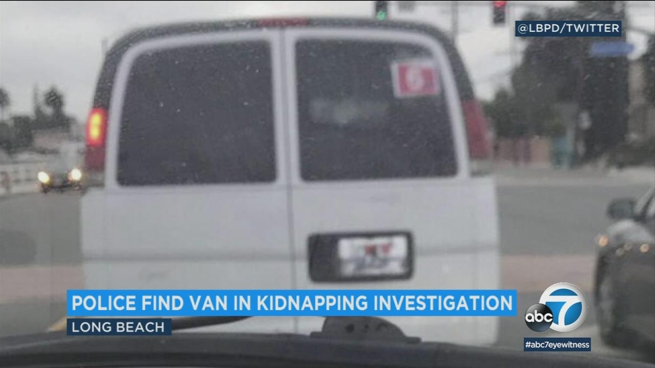 Police in Long Beach located a van they were searching for in connection to a possible kidnapping, and they now say no kidnapping occurred.