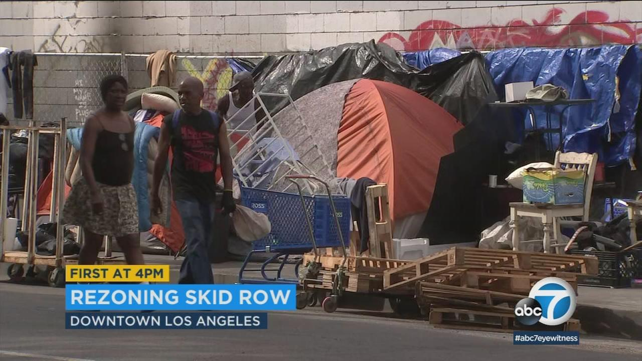 An expected population boom in downtown L.A. is fueling concerns in Skid Row that low-income residents will be pushed out.