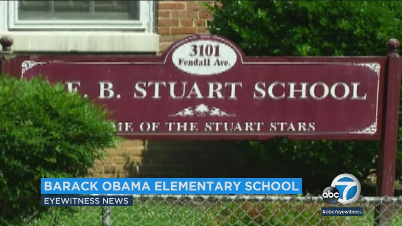 The Richmond Public School Board voted  to change the name of J.E.B. Stuart Elementary to Barack Obama Elementary.