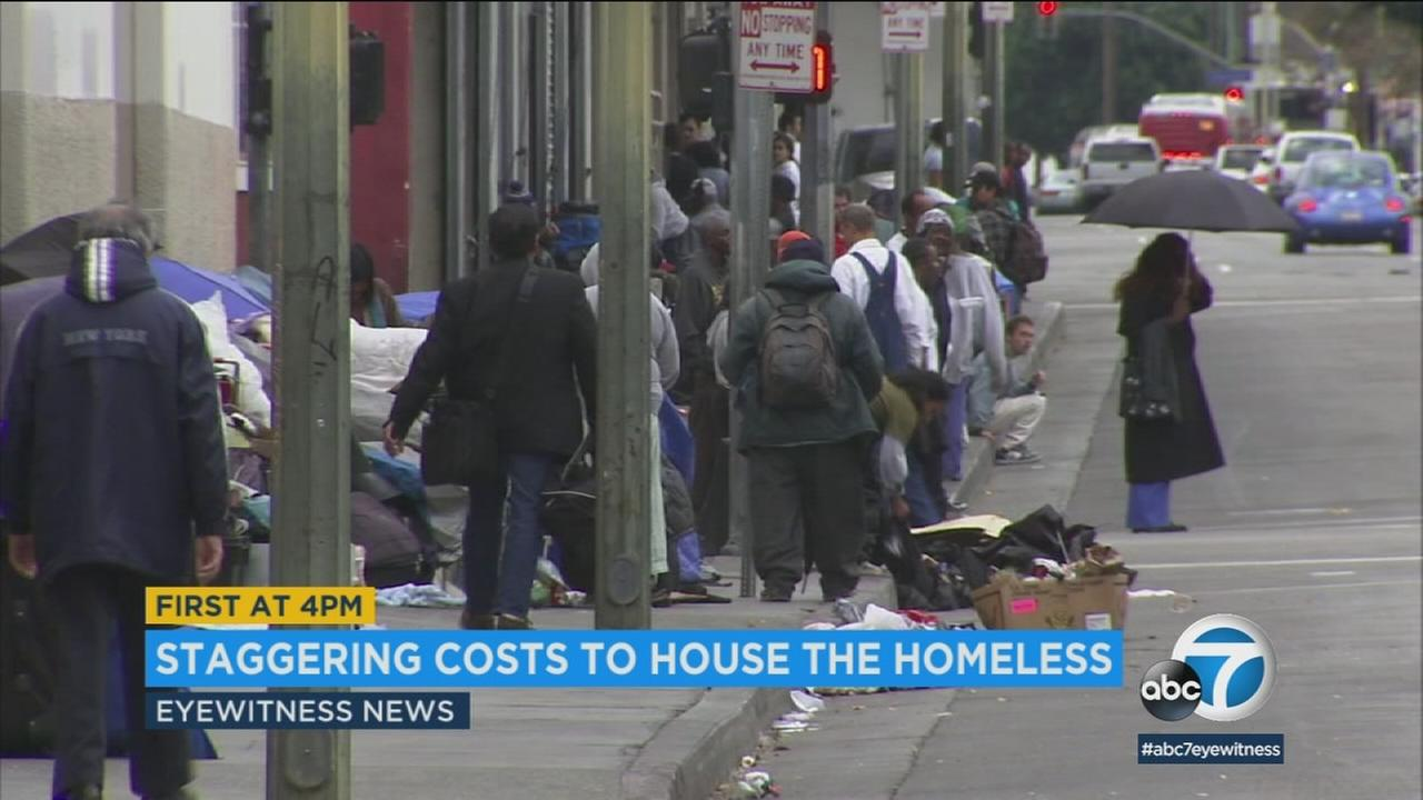 It would cost at least $657 million to provide temporary housing for every homeless person in Los Angeles, according to a new report.