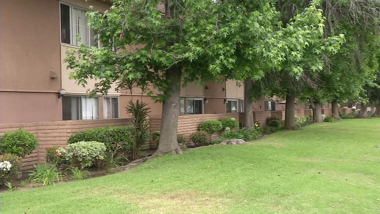 An Anaheim apartment complex where four family members are accused of torturing a 15-year-old girl.