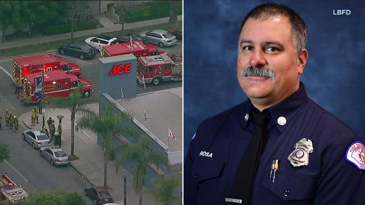 Long Beach Fire Department Capt. Dave Rosa is seen in a photo released by the department.