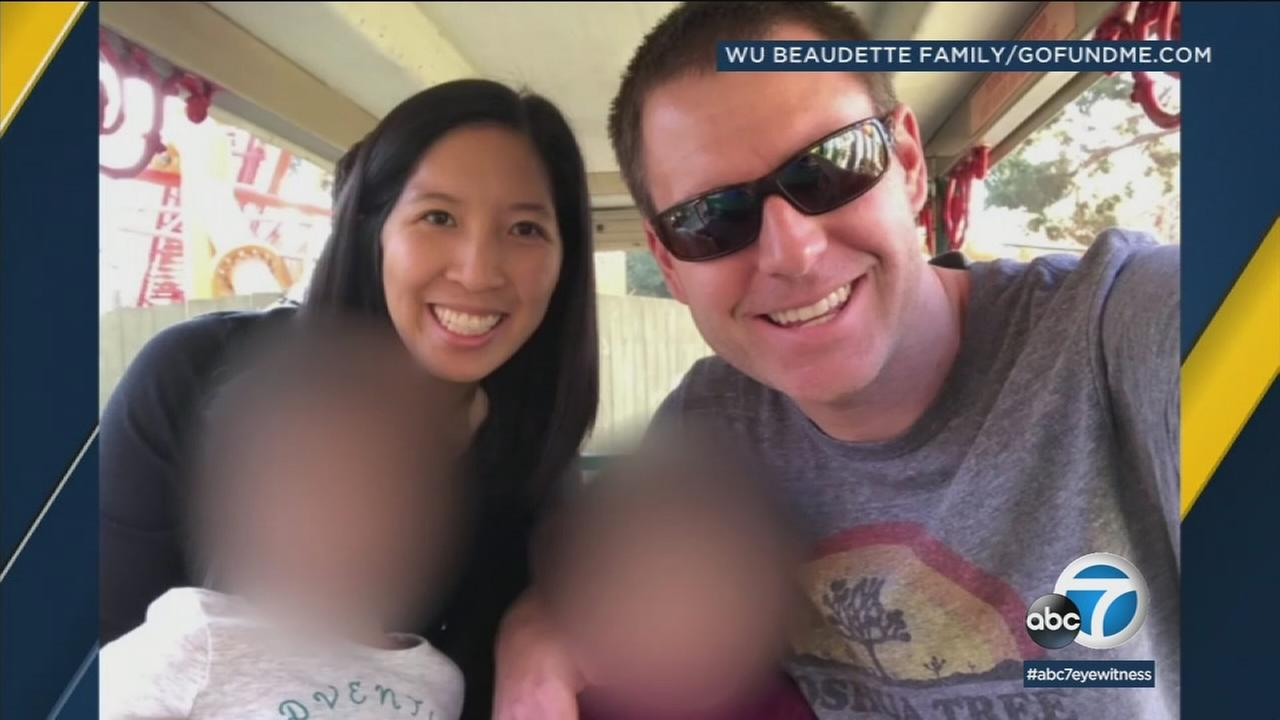 Tristan Beaudette and his wife Erica Wu are shown in a family photo.