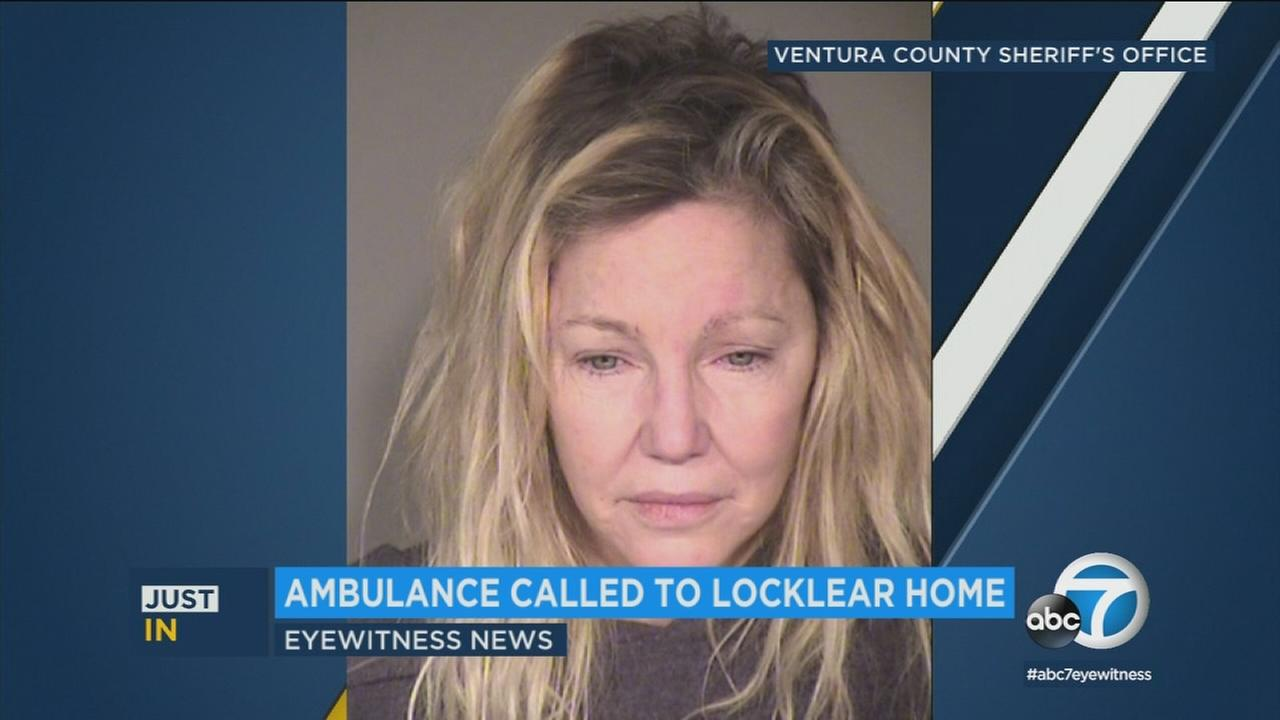An ambulance was called to actress Heather Locklears home, hours after her arrest for a domestic disturbance.