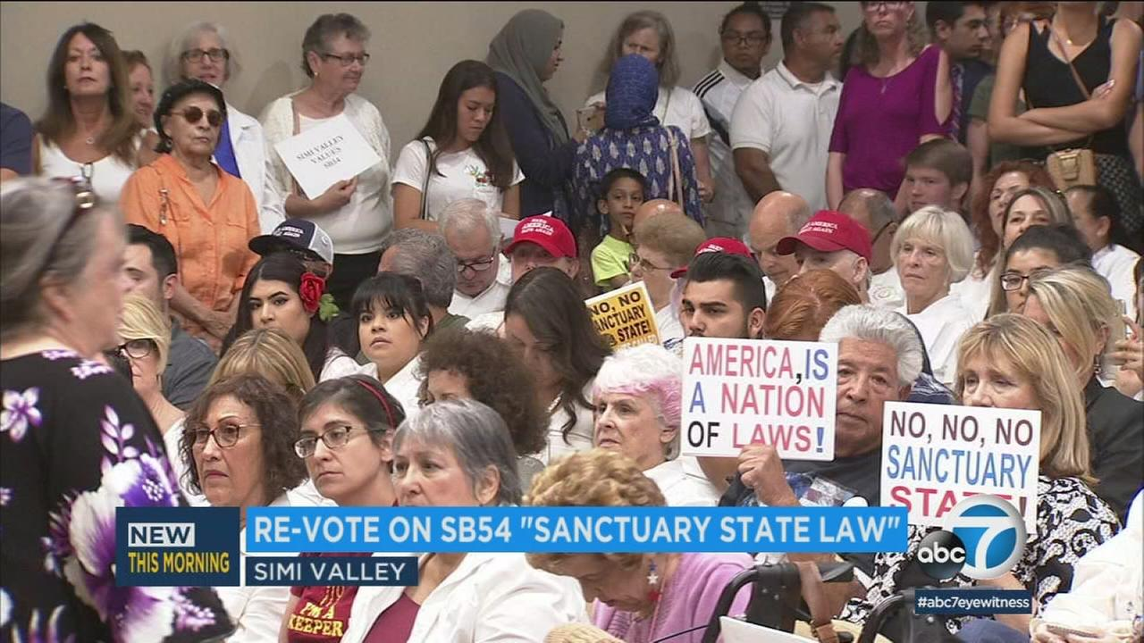 The Simi Valley City Council voted again overnight in support of the Trump administrations lawsuit against the states so-called sanctuary law.