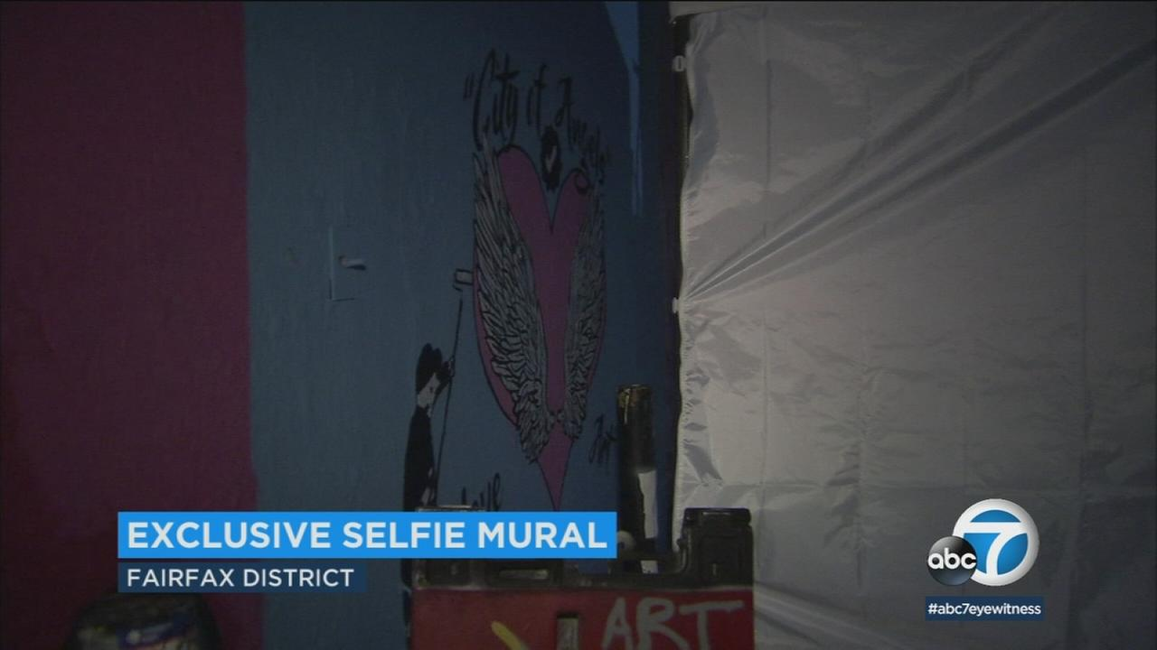 A new mural has debuted in Melrose, but you need to be verified social media influencer or have 20,000 followers to take a selfie there.