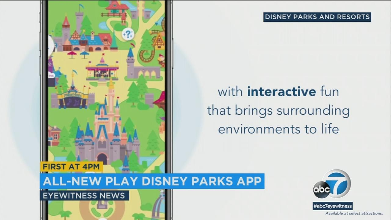 Disneyland and Disney World will roll out its new interactive Play Disney Parks mobile app this Saturday.