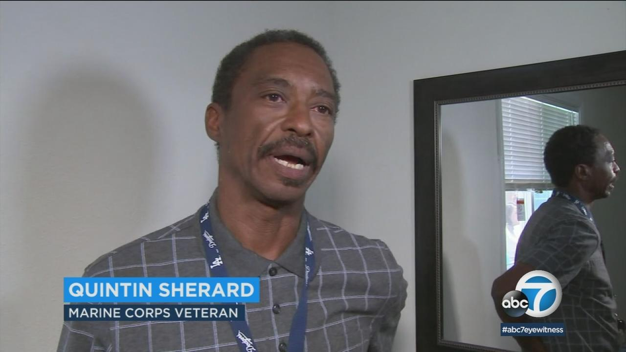 Quintin Sherard got the keys to his apartment in Fontana, becoming the 1,000th homeless veteran to receive housing from San Bernardino County since 2015.