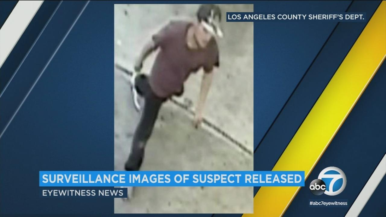 New images have been released of a man wanted in the brutal slashing of a convenience store worker in Carson.