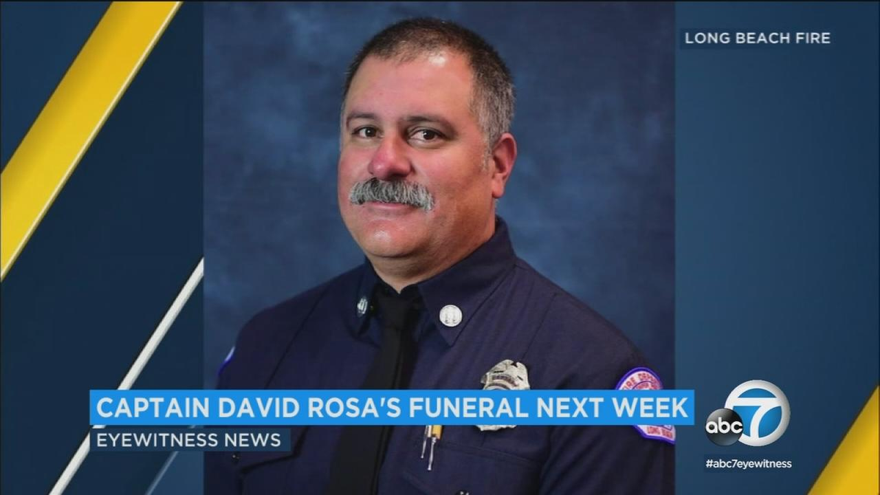 The Long Beach Convention Center will host a public funeral service for slain Long Beach Fire Department Capt. David Rosa next Tuesday.
