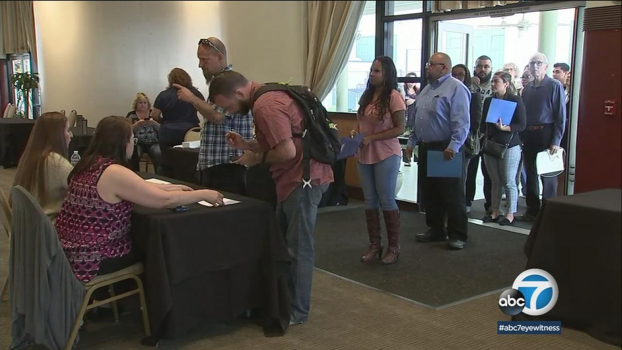 The Los Angeles County Fair held a job fair Thursday at the Pomona Fairplex with more than 700 positions available.