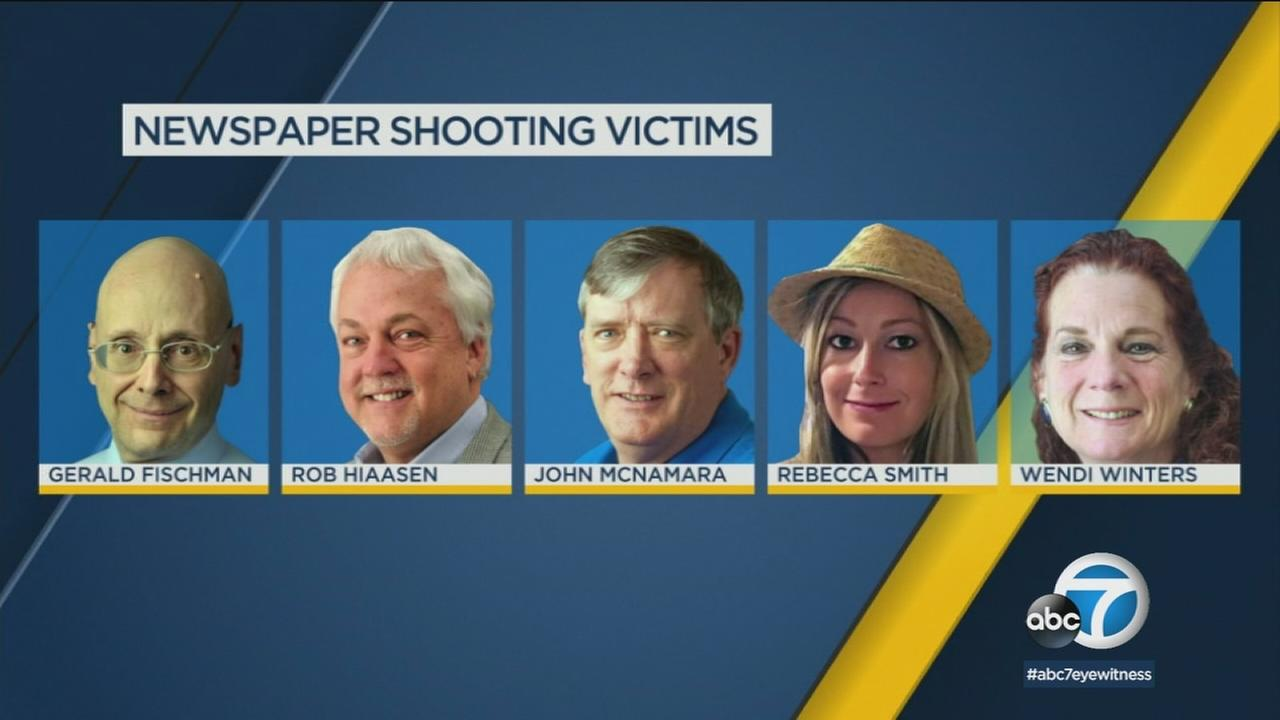 Authorities have identified the five victims who died in a shooting at a newspaper in Annapolis, Md.